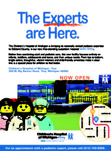 Childrens Hospital of Michigan Print Ad